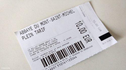 Mont - Sant - Michel Eintrittskarte