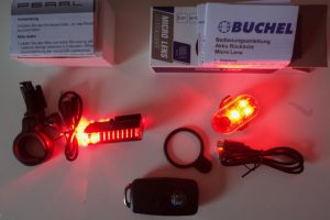 Büchel Micro Lens LED und PEARL Velolicht unboxing