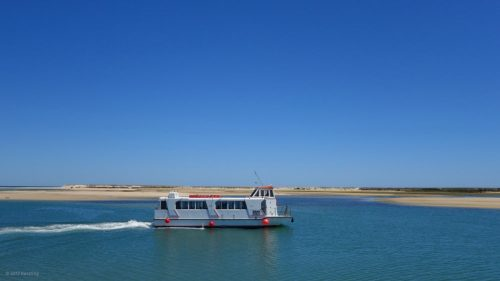 Excursion boat in Fuseta on our bike tour