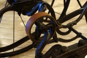 Bandbremse mit Leder als Bremsbelag