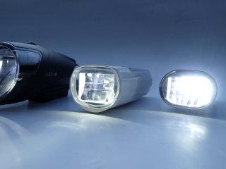Fahrrad Scheinwerfertest Litecco Highlux.30 und Solarscheinwerfer Brillan
