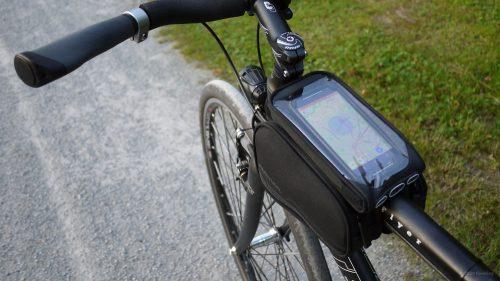 Fahrrad Rahmentasche mit Smartphone Test
