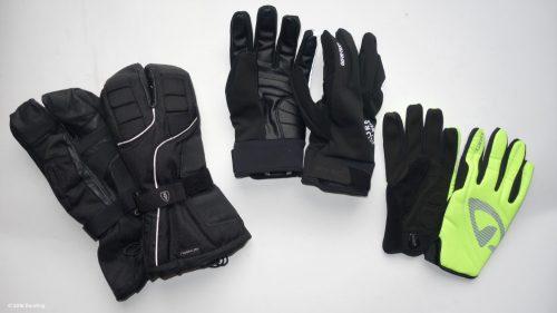 Fahrrad Winterhandschuhe in drei Ausführungen