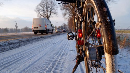 Bicycle winter tire test