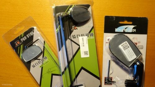 Inexpensive bicycle helm rearview mirror imported from China
