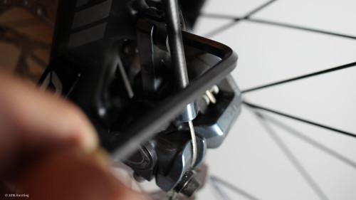 Scheibenbremse am Fahrrad einstellen