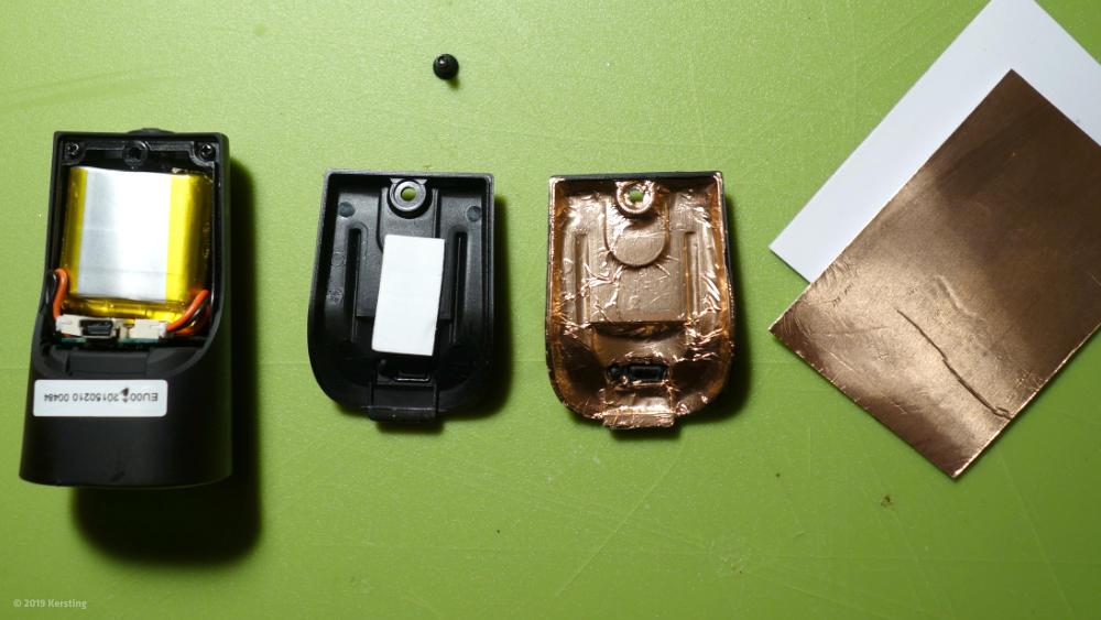EMV-Abschirmung einer Fahrradlampe mit Metallfolie