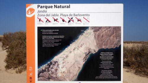 Der Parque Natural ist nur für Radfahrer und Wanderer geöffnet