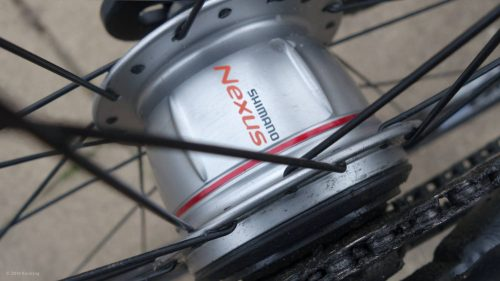 Clean Shimano Nexus rear hub