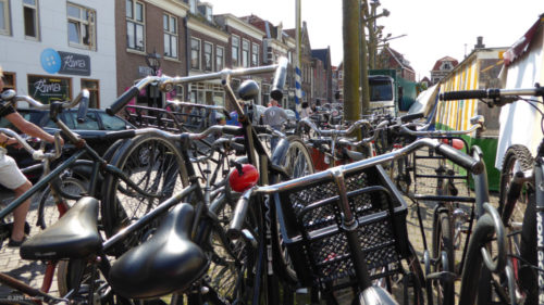 Bicycle parking in Holland