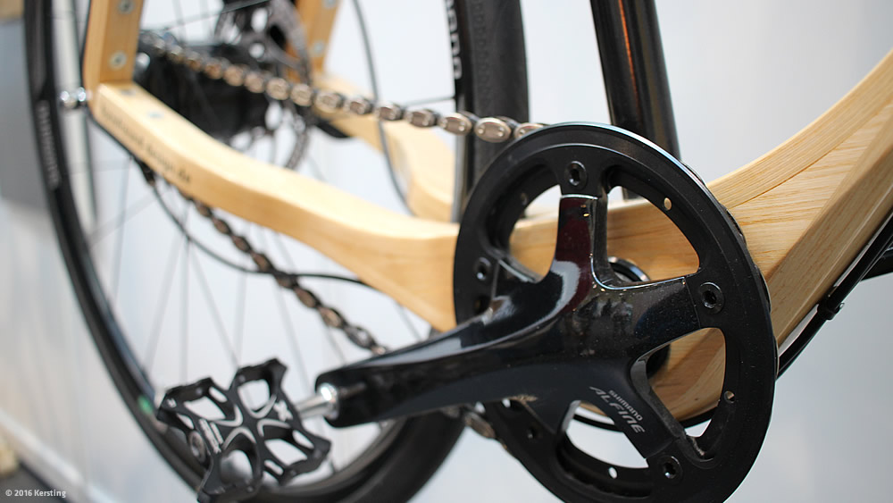 Wooden frame bike