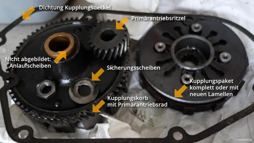 Ersatzteile für SIMSON Kupplung und Primärantrieb