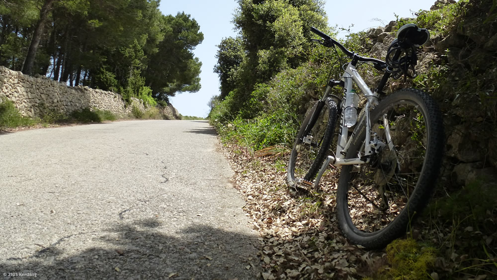 Menorca Radtour nach Cala d'algaiarans