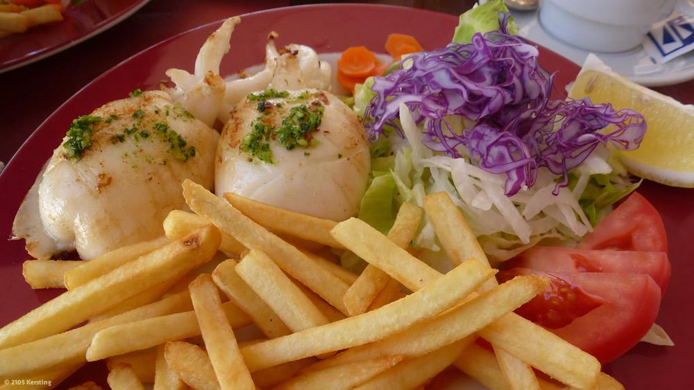Essen nach einer Radtour auf Menorca