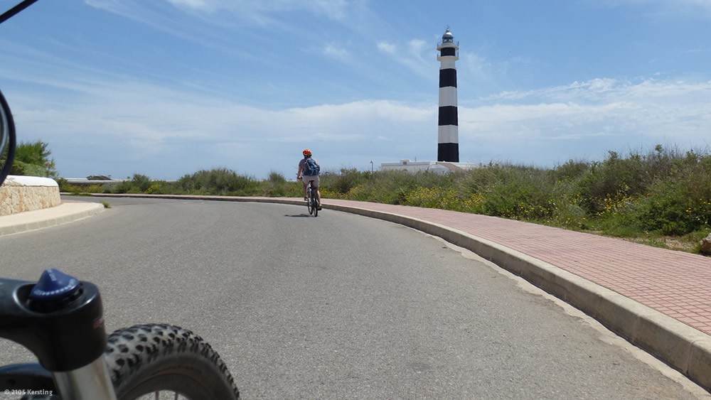 Radtour Menorca Cap d'artrutx