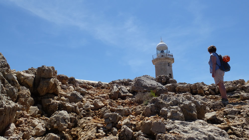 Menorca Punta Nati lighthouse bike ride