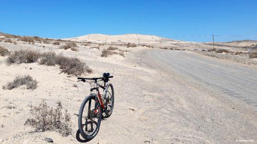 Ein MTB ist das optimale Gefährt für die Wellblechpisten auf Fuerteventura