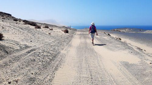Sandpiste auf dem Rückweg durch den Parque Natural