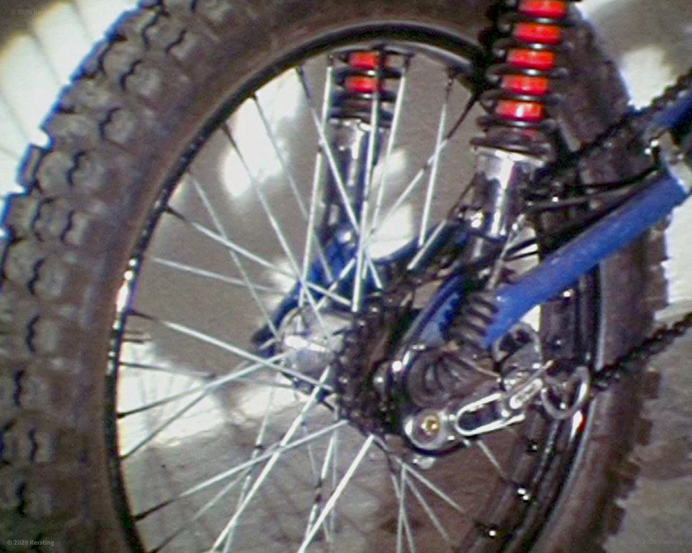 Fünfach verstellbare Federbeine am Fahrrad