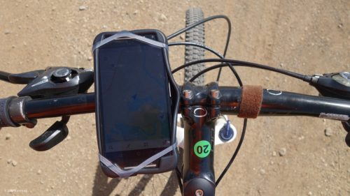 A GPS on the smartphone helps us