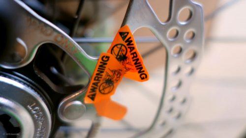 Aufkleber von Shimano Bremsscheiben entfernen