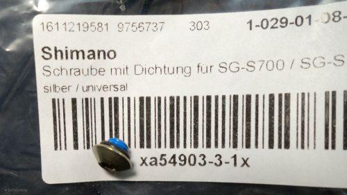 Die benötigte Ölschraube der Shimano Alfine findet auch an der Nexus 8 Verwendung