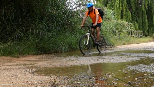 Mit dem Mountainbike auf dem Ecovia do Litoral