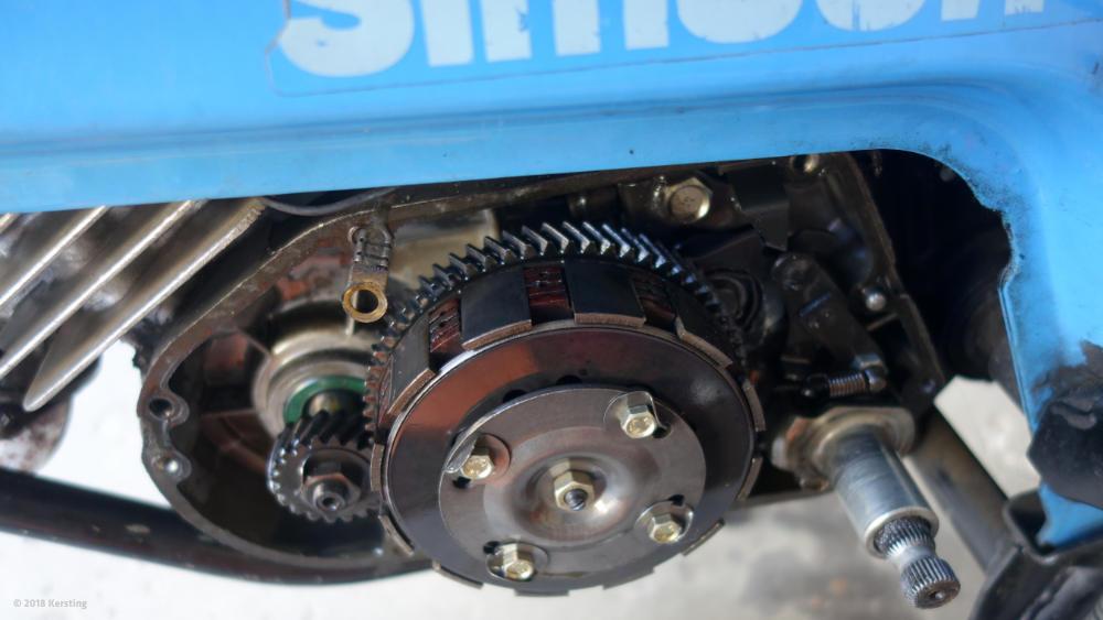 SIMSON Kupplung und Primärantrieb beim SR50 Roller