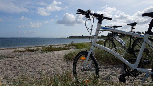 Fahhrräder am dänischen Strand