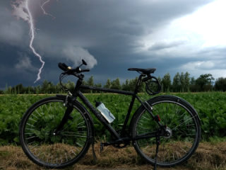 Cycling during thunderstorms