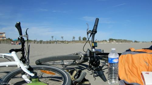 Radfahren am Sandstrand