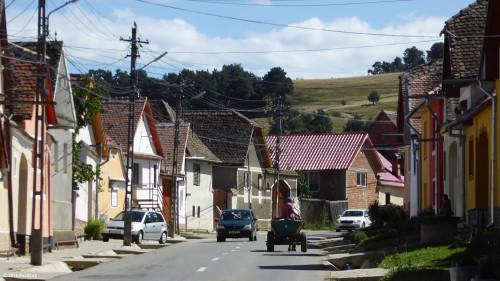 Fuhrwerk auf unserer Radtour nach Sibiel