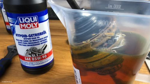 Oil bath from the hardware store instead of sinfully expensive original Shimano oil for 50, - EUR