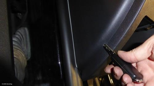 Fabia Sicherungskasten mit dem Schlüssel öffnen