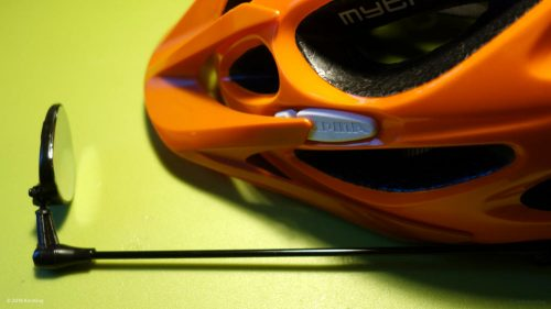 Rear view mirror for bicycle helmet - just plugged