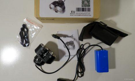 Thorfire-BL02 Paketinhalt des LED Scheinwerfer-Sets für Fahrräder