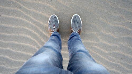Feinster Sand am Strand des französischen Atlantiks