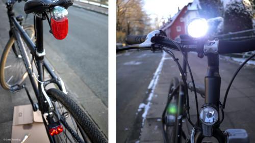 Gute Beleuchtung am Rad ist im Winter überlebenswichtig