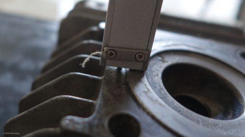 Zylinderkopf ausmessen um die Quetschkante zu berechnen